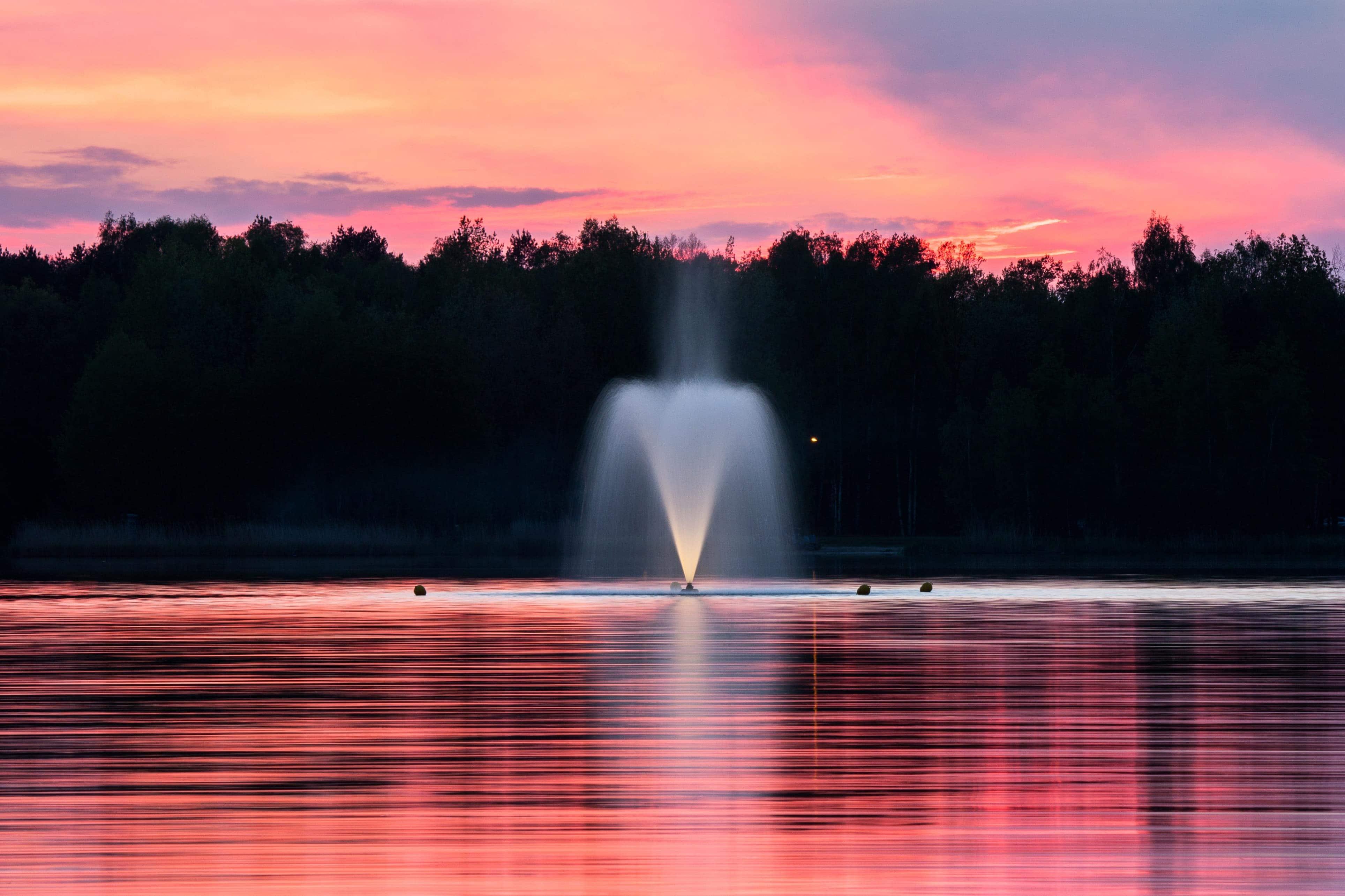 Brunnen Sonnenuntergang